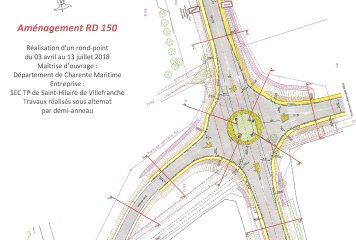 Rond-point de la RD150