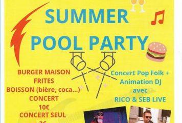 Concert «Summer Pool Party» à la piscine le Samedi 27 juillet