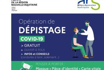 Opération dépistage covid-19 gratuit à LOULAY